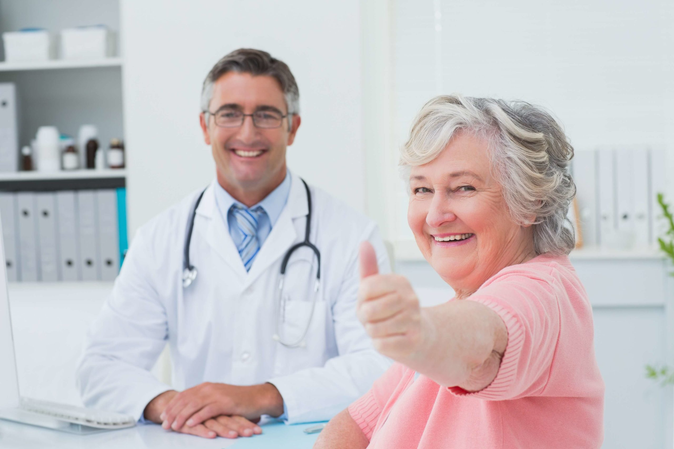 Woman excited for value based care physician performance.